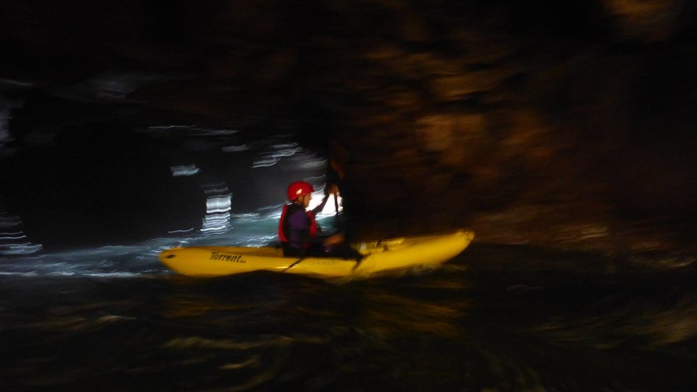 On calm days, kayaking Mendocino sea caves is amazing.
