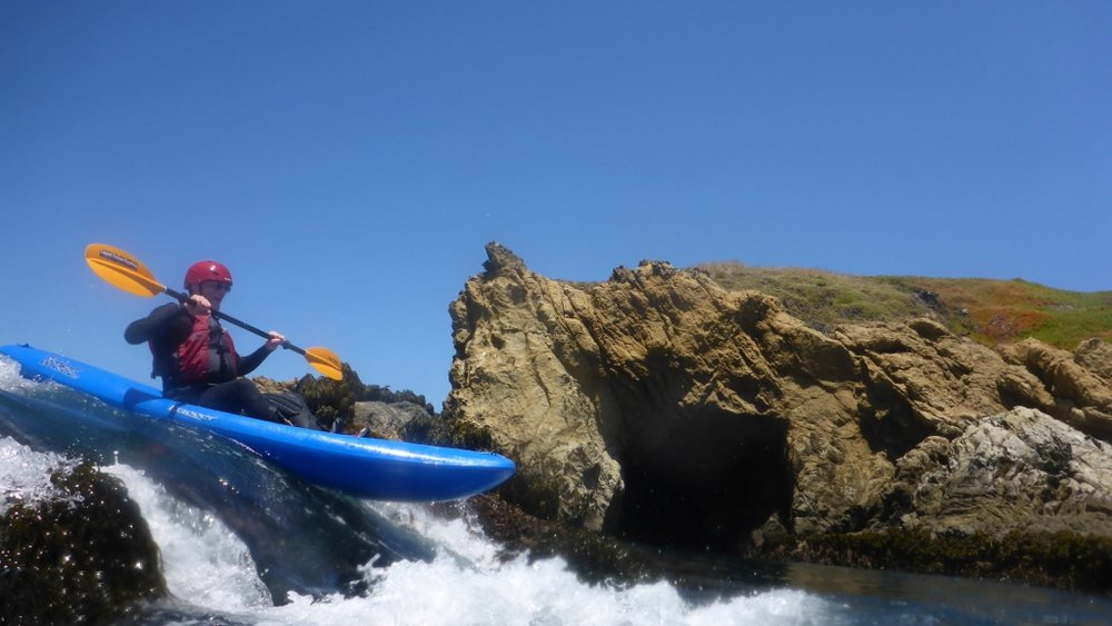 Rock hopping on the Mendocino Coast