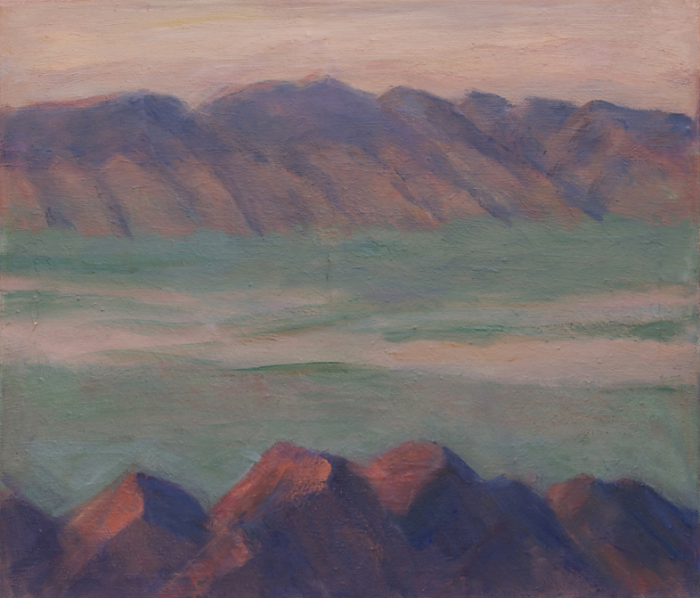 120.a Two Mountain Ranges and Enclosed Basin, Nevada, 26x30, 2001-08.web.jpg