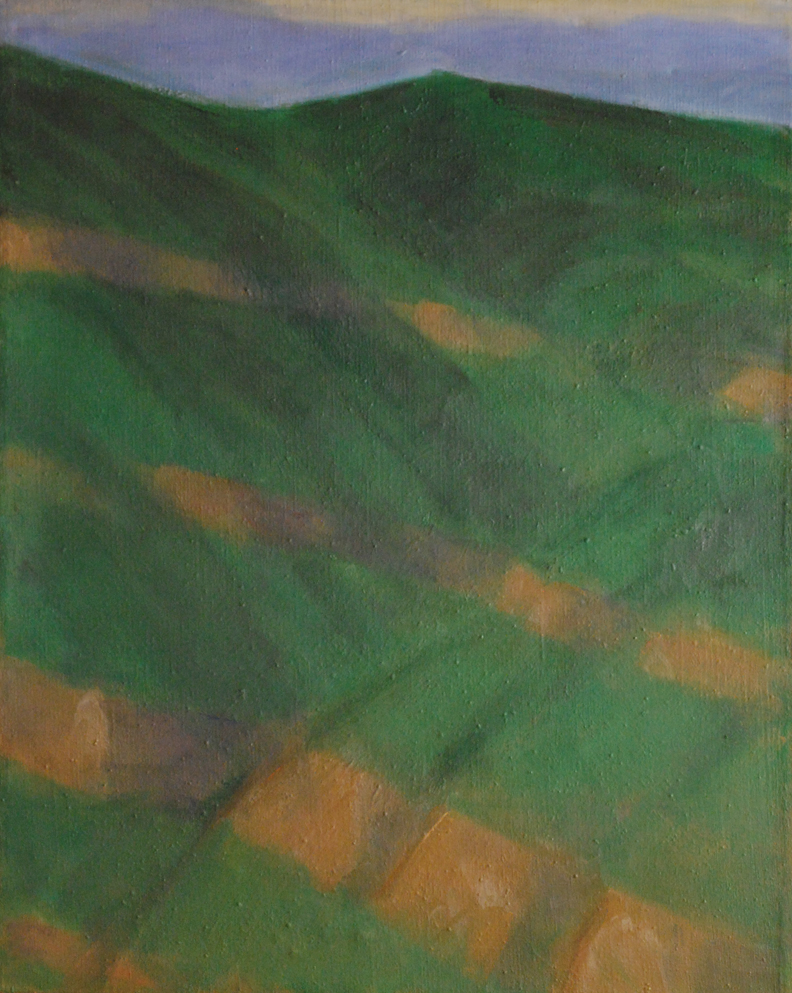 169. Sandstone Ledges in Chaparral and Woodland  34 x 28.web.jpg