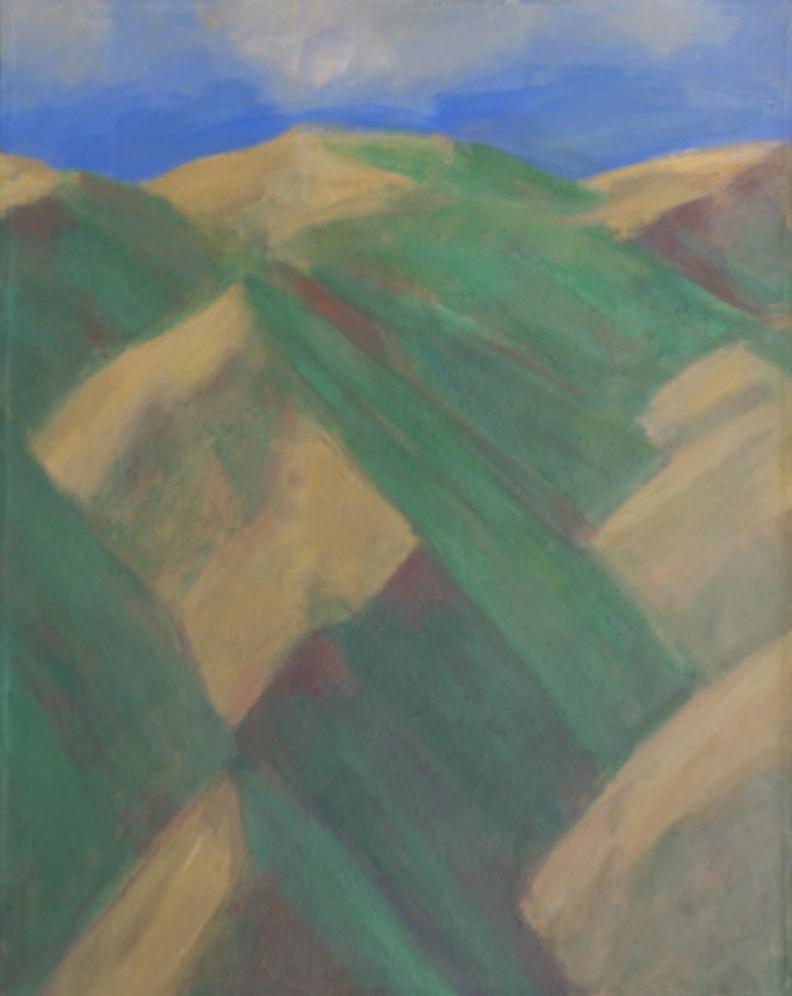 150.Grass Ripened on South-Facing Slopes in May, Calif. Coast Range, 37x29 2005.web.jpg