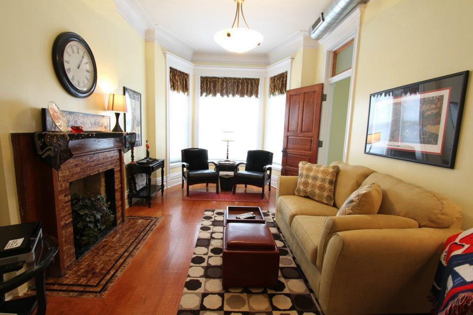 Brown Line Flat Living Room
