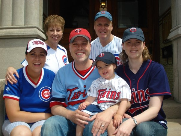 "Our family on the front steps of our Chicago greystone in 2010.  While most of us live in Minnesota, we quickly adopted Chicago as our very own ""Second City"", and truly feel it is our second home.  We know you will feel the same when you come to visit!"