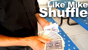 "Looking for a false shuffle that can be performed in the hands, maintains full deck order, and can even be used for a triumph effect? Look no further: now available is a tutorial on the ""Like Mike"" shuffle, an in-the-hands false faro shuffle.   $10 Download (mp4 file) via a pop up window to PayPal and e-junkie Running time: 14:32 File Size: 377 MB"