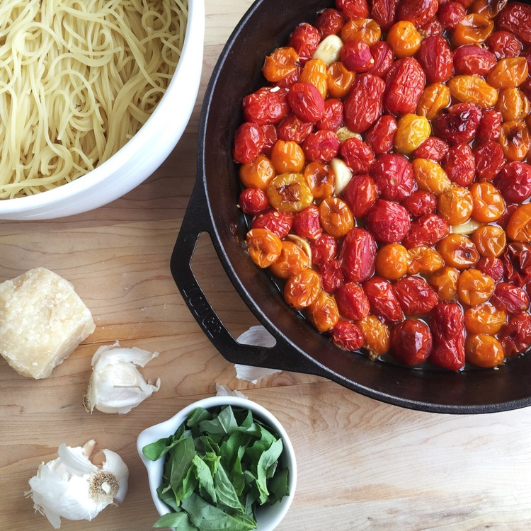 roasted tomato capellini -