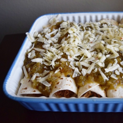 green chicken enchiladas -