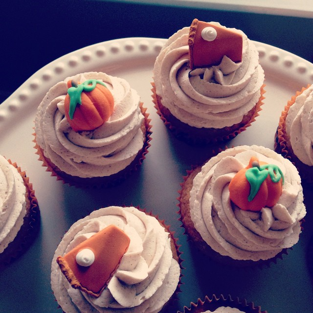 easy pumpkin spice latte cupcakes -