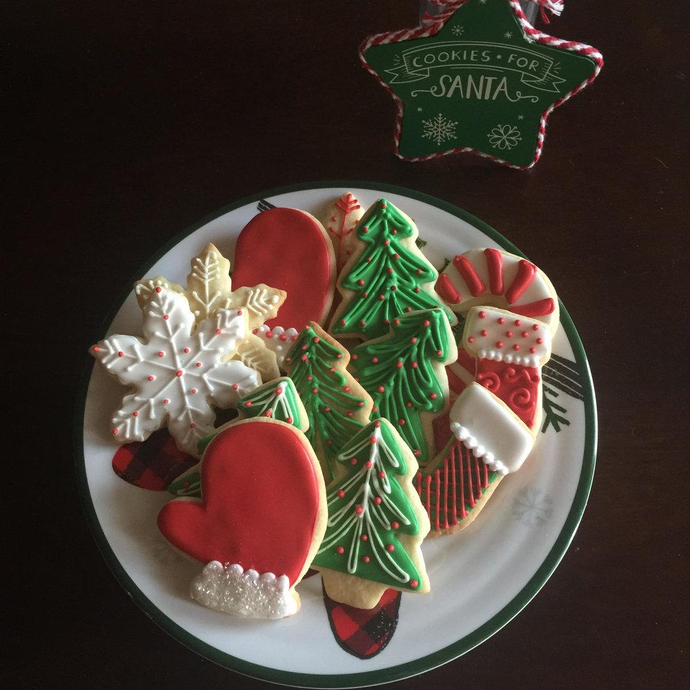 christmas cookies -