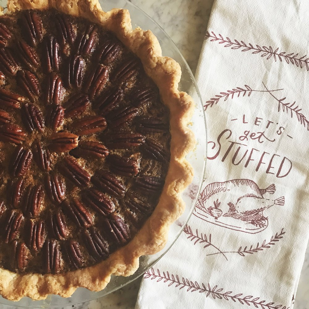 chocolate bourbon pecan pie -