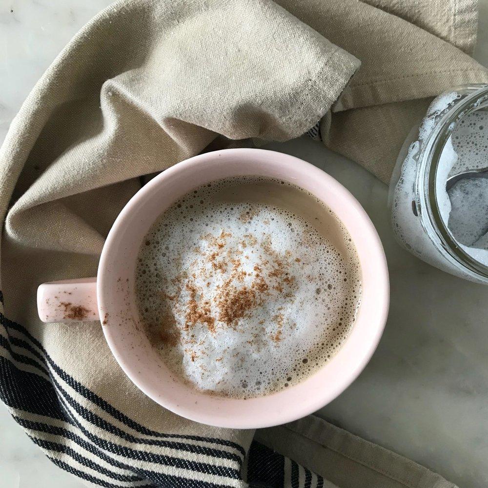 a caramel latte -