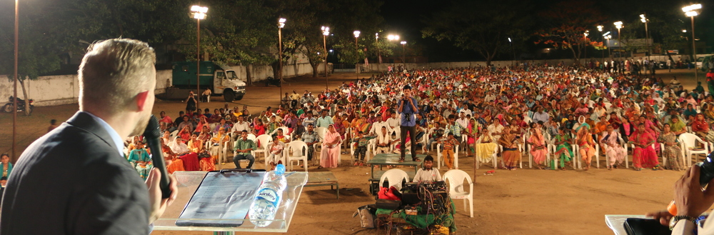 The 3rd night of my Gospel Crusade in India