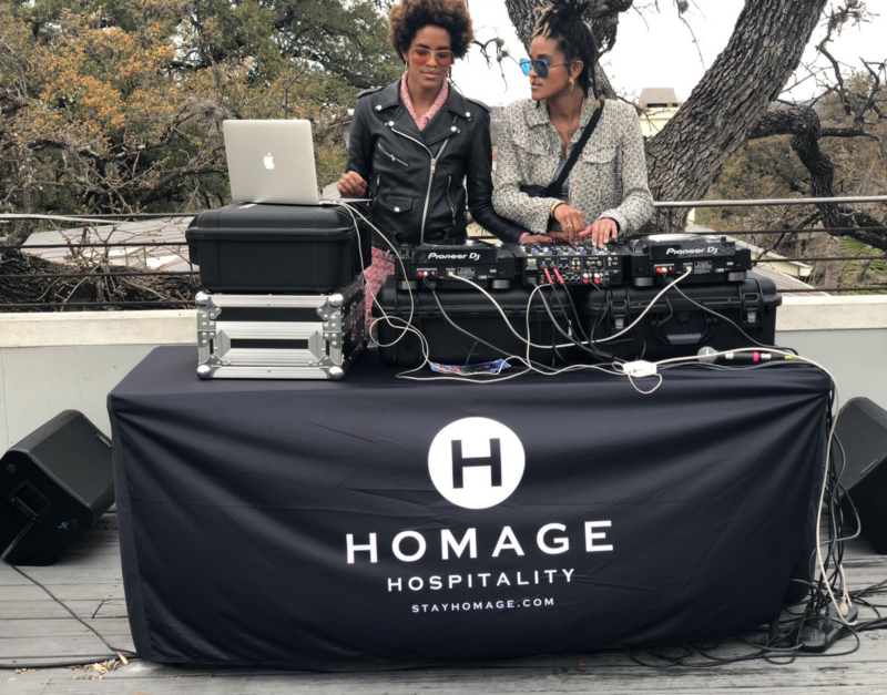 Creative twins, CoCo and Breezy, supplied vibes with their DJ set