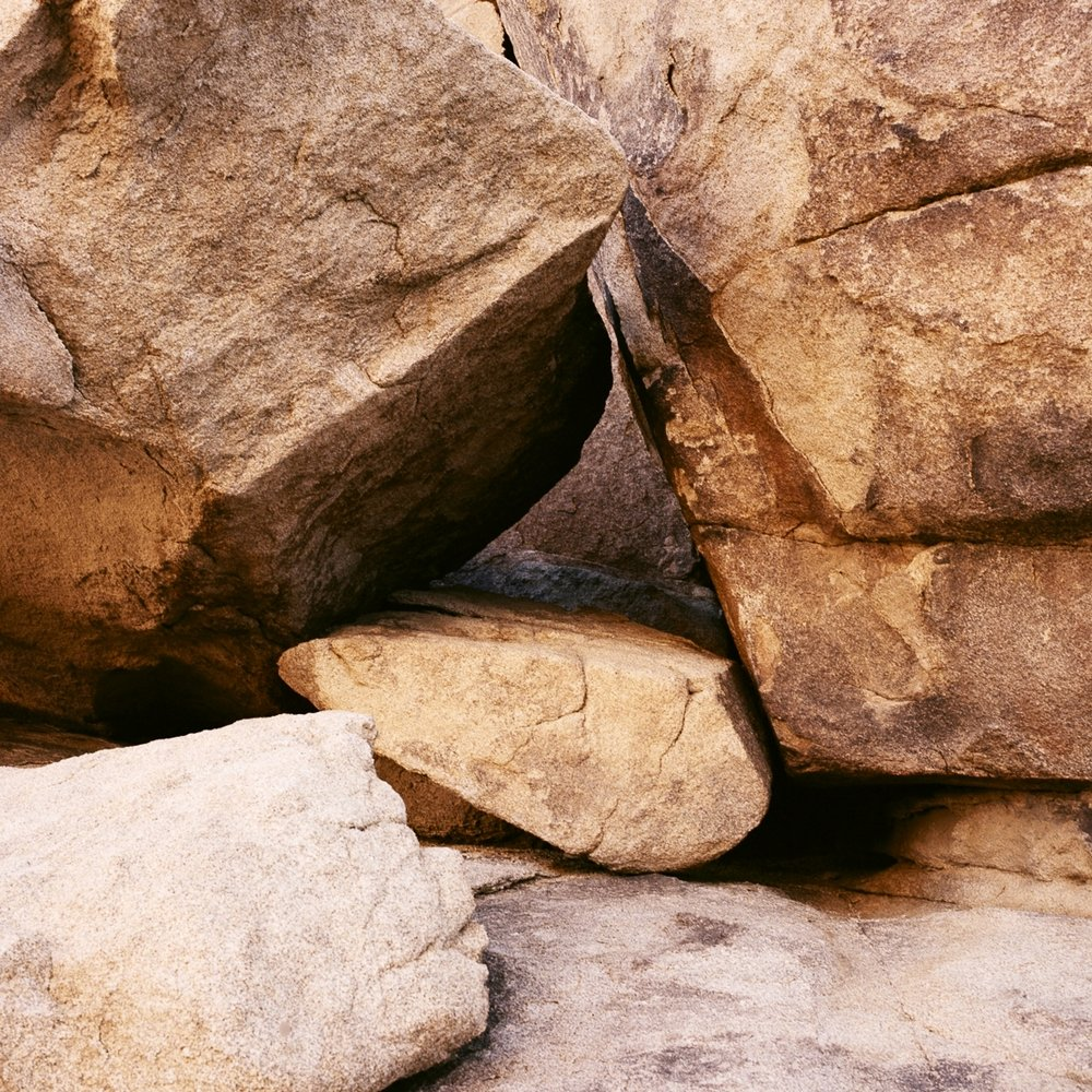 OLD ROCKS.  JOSHUA TREE NAT. PARK, CA.