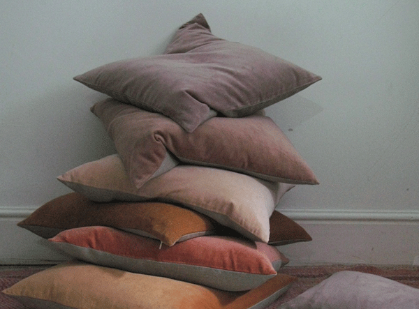 hand dyed velvet cushions manon bis