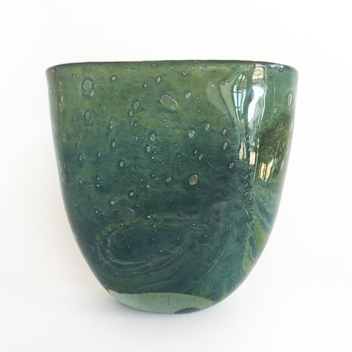 Henry Dean Turquoise Curved Vase Manon Bis