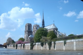 Notre Dame Cathedral and the Seine River in Paris