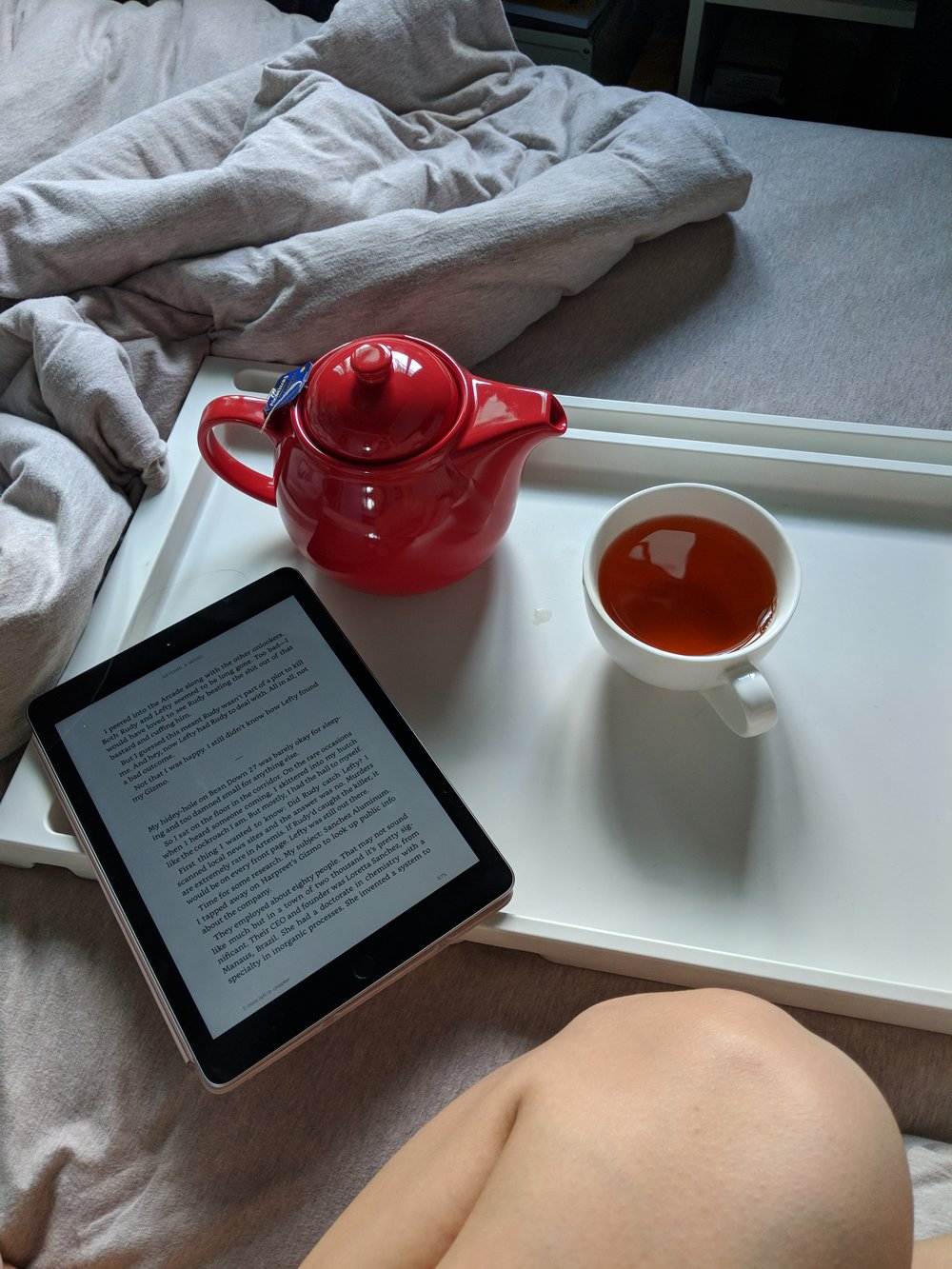 Sunday afternoons with my Kindle and tea