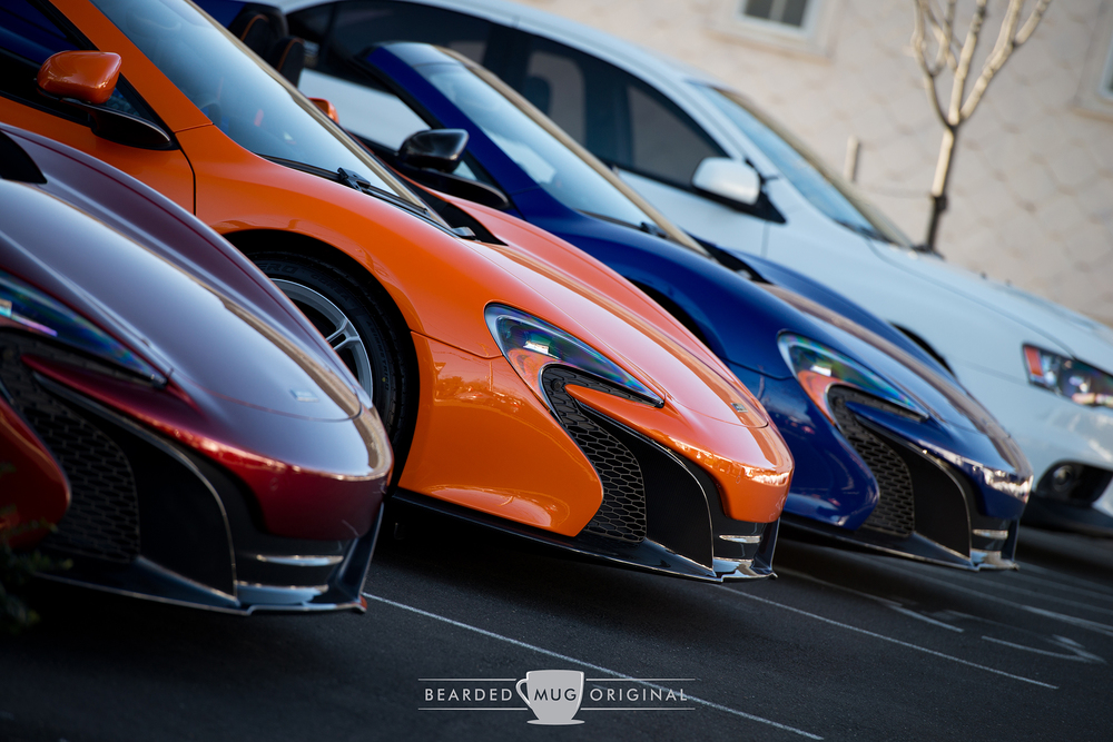 The McLarens are lined up at Miller Motorcars in Greenwich, CT.