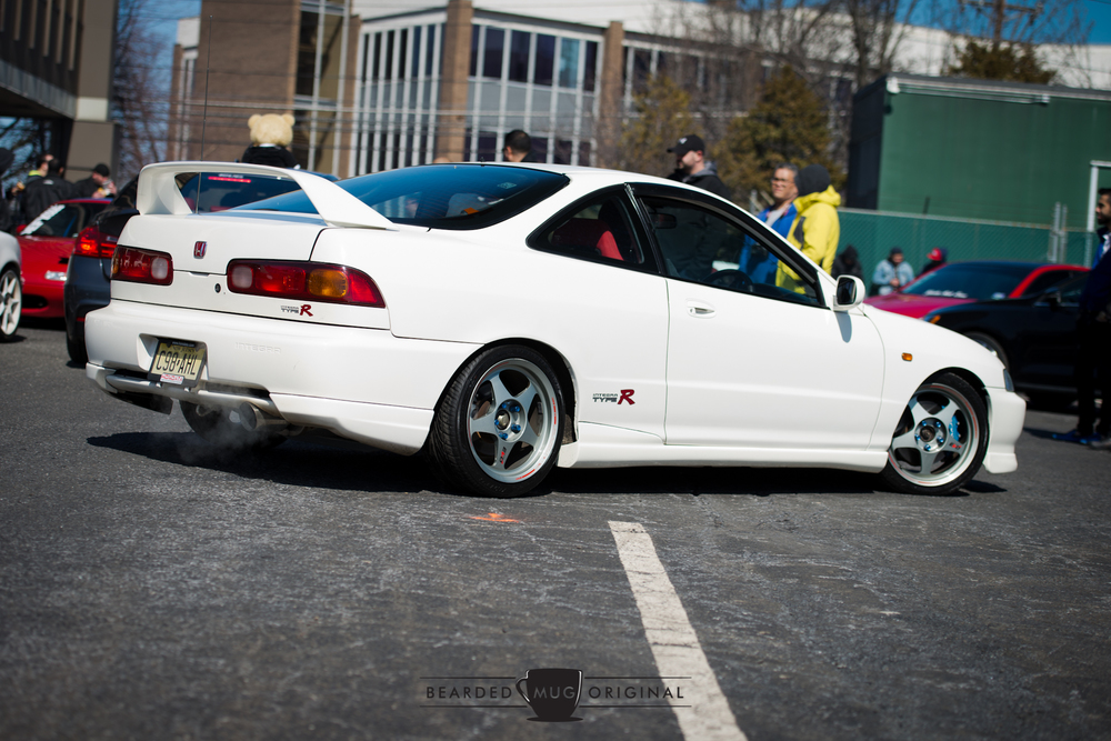 This beautiful ITR had it all, right-hand drive, Championship white paint, those seats, what looks like Spoon calipers...could it be a real JDM import?