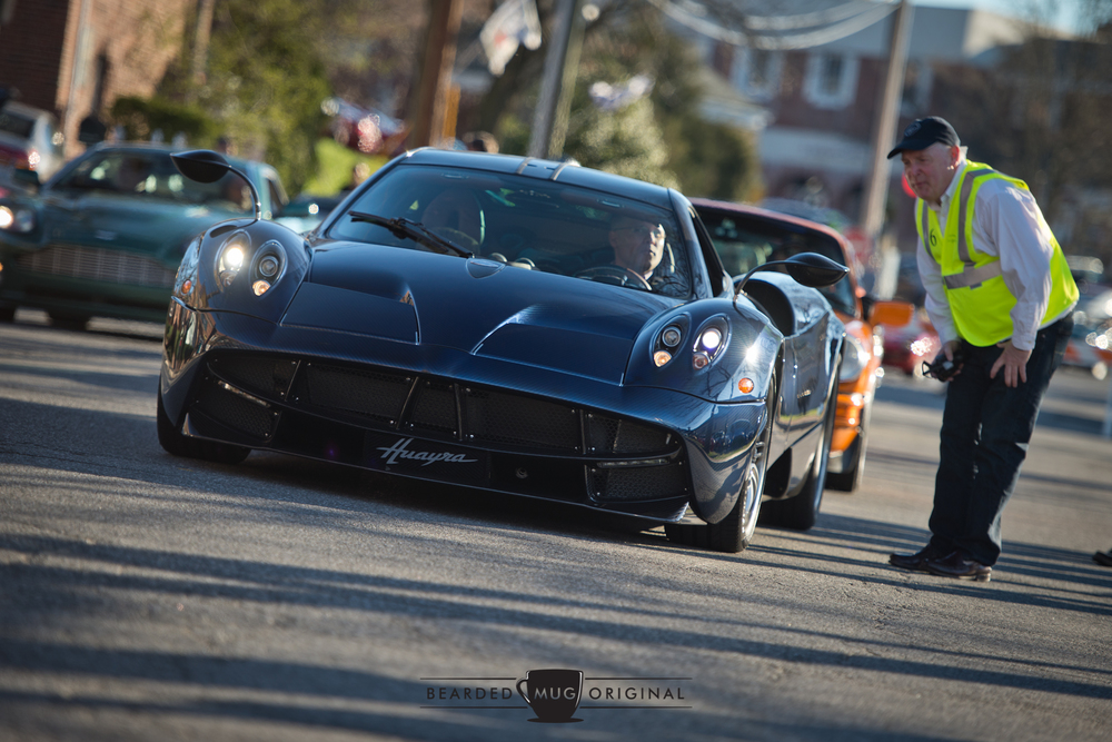 With an MSRP of a cool $1.6 million, the Pagani Huayra is not a car you see every day. Or ever.