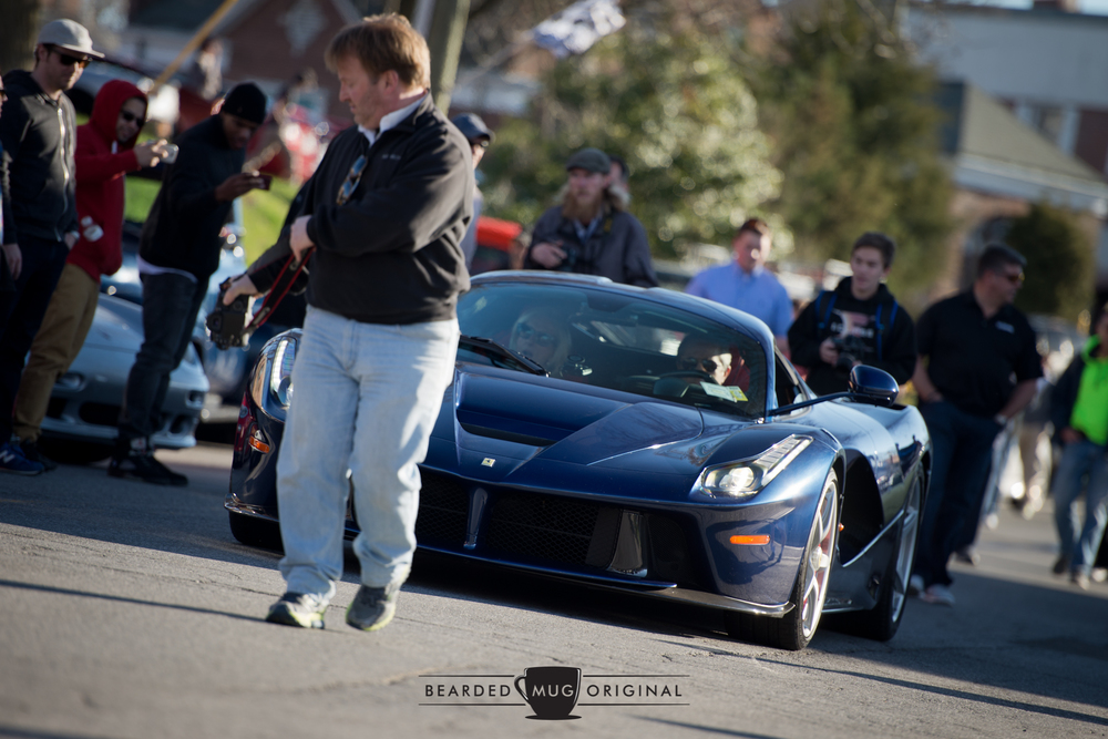 The TdF blue LaFerrari was escorted down Pine St. by C&C's own Todd Brown, leaving a trail of photographers in its wake.