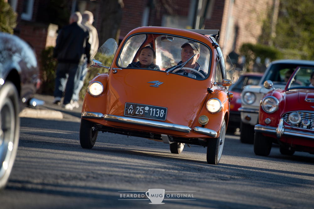 Heinkel micro car delivered loads of fun to both the riders and spectators.