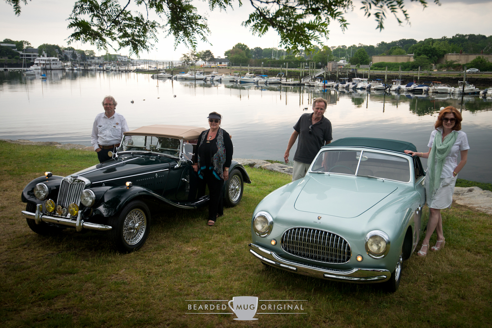 Concours International recognized the 1951 Cisitalia 202C (right) as the   Best in Show  , with the 1954 MG TF (left) bagging the   People's Choice  .