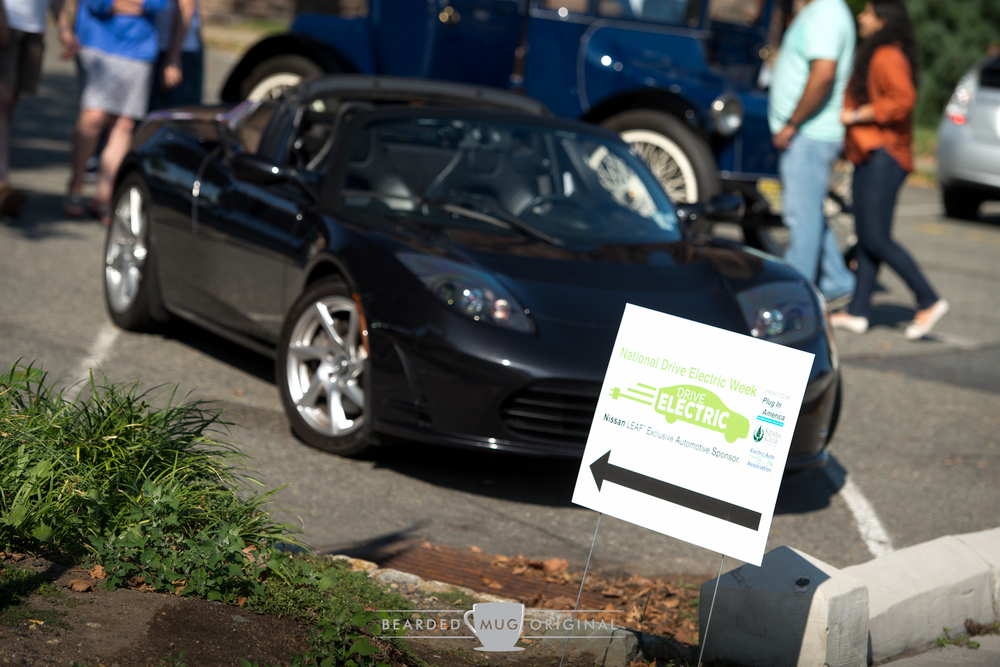 Ian's Roadster was front and center at this summer's EAA event in Morristown, a car show that showcased all types of electric vehicles.