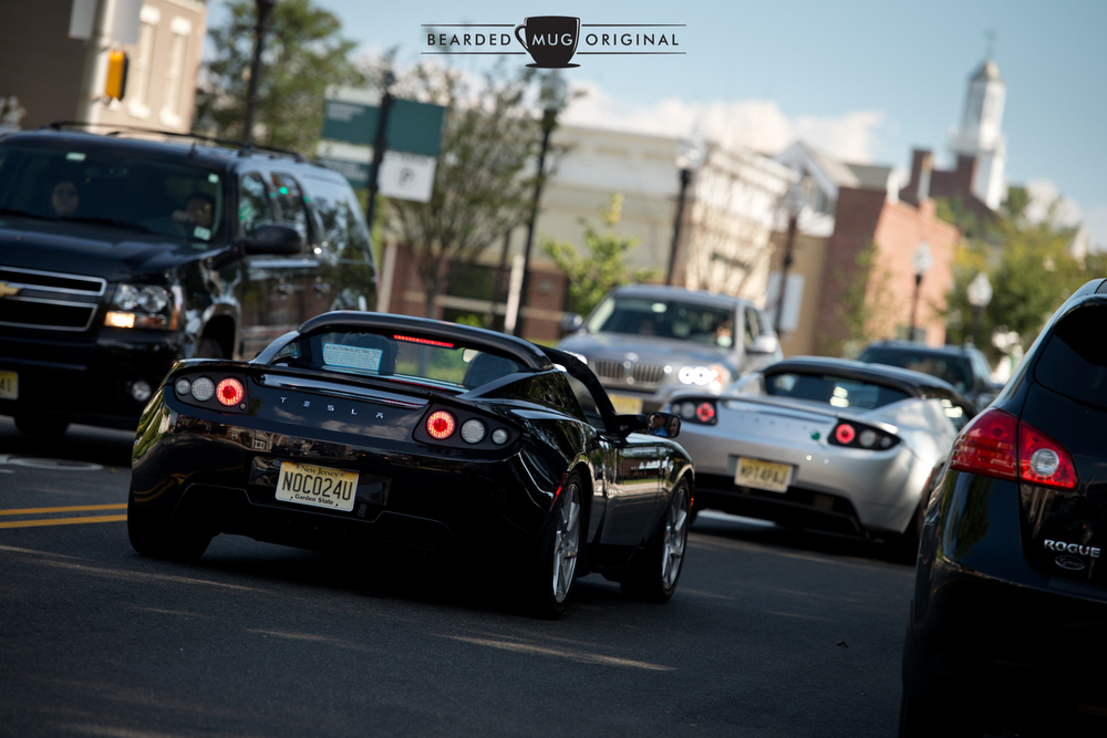 Ian's Roadster follows another off into the Morristown sunset.