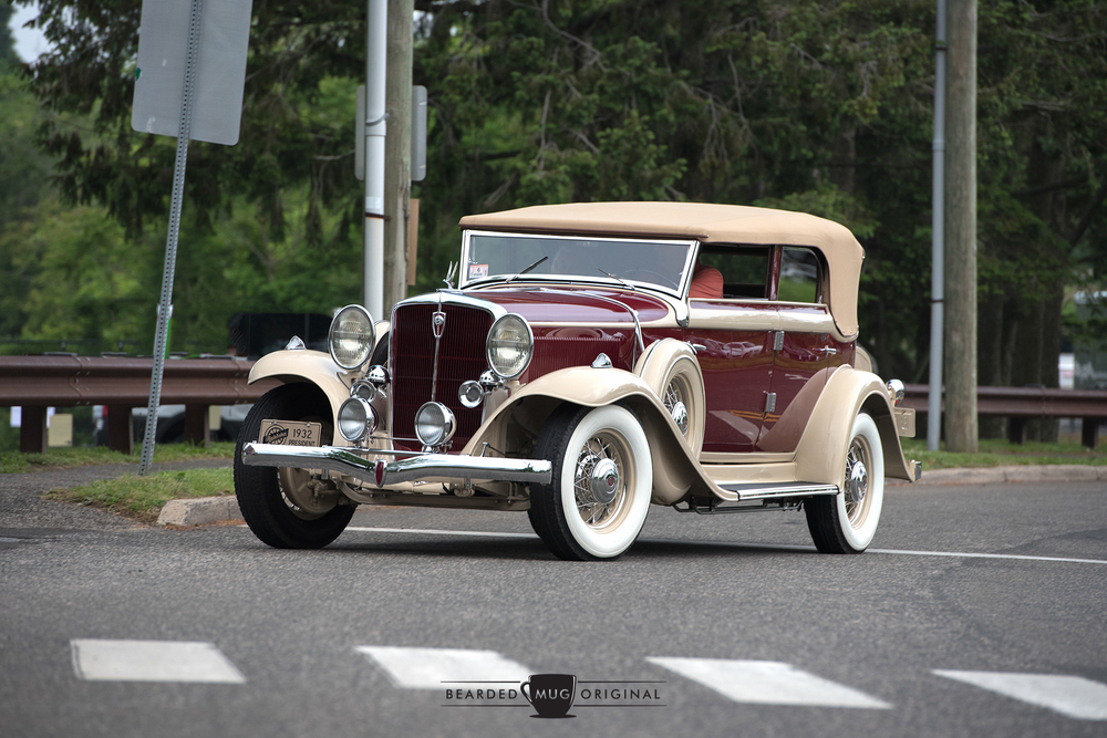 The glorious two-tone paintwork of the Best in Show 1932 Studebaker President Convertible Sedan was just the icing on a cake that was filled with little details and a reminder that this car heralded from a finer era of automobile.