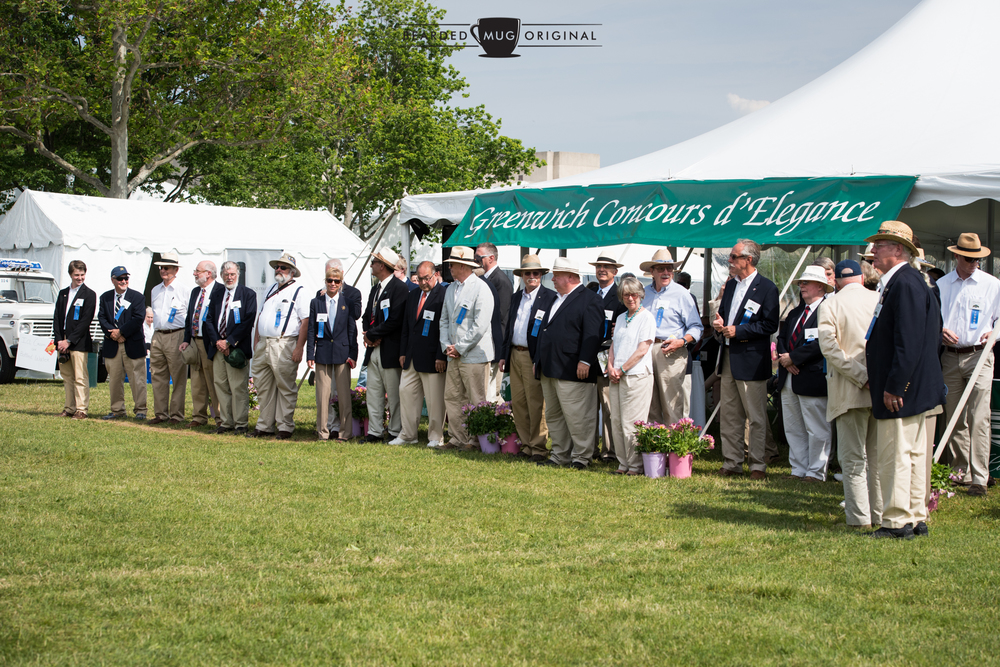 The judges, in no particular order, of the 2016 Greenwich Concours d'Elegance.