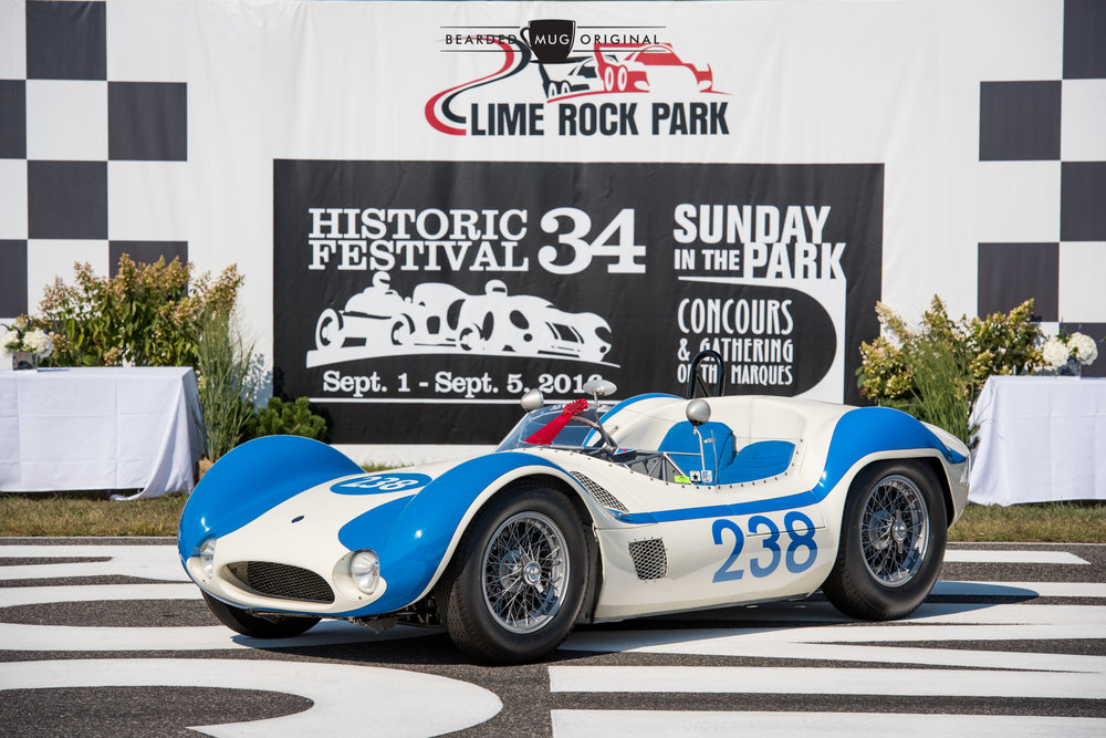 Although this 'Bird Cage' Maserati wasn't taken out on the track this year, it did take top honors during the Sunday in the Park concours.