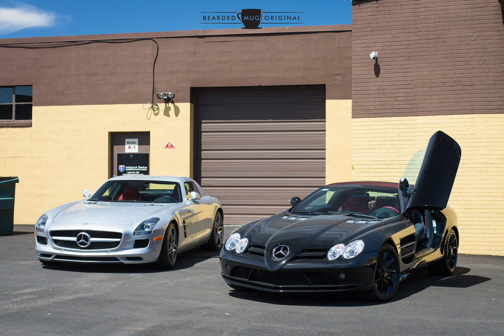 You can't show up in an SLR McLaren, Michael Strahan, and expect people to not take pictures.