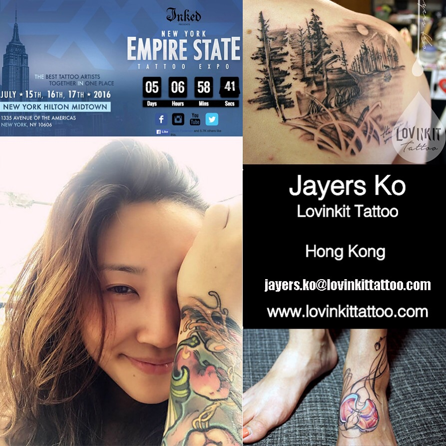 Jayers has been working her ass off at the massive Empire State Tattoo Expo in NYC this weekend. Check out what she's been up to on her Instagram www.instagram.com/jktattoohongkong !