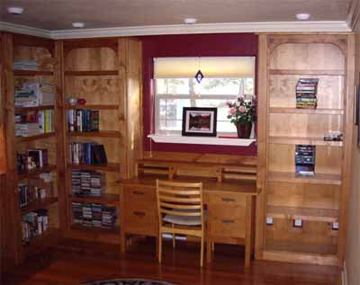 I Did A Built In Library And Desk, Fireplace, Cabinets, And Stair Railing  In This House.