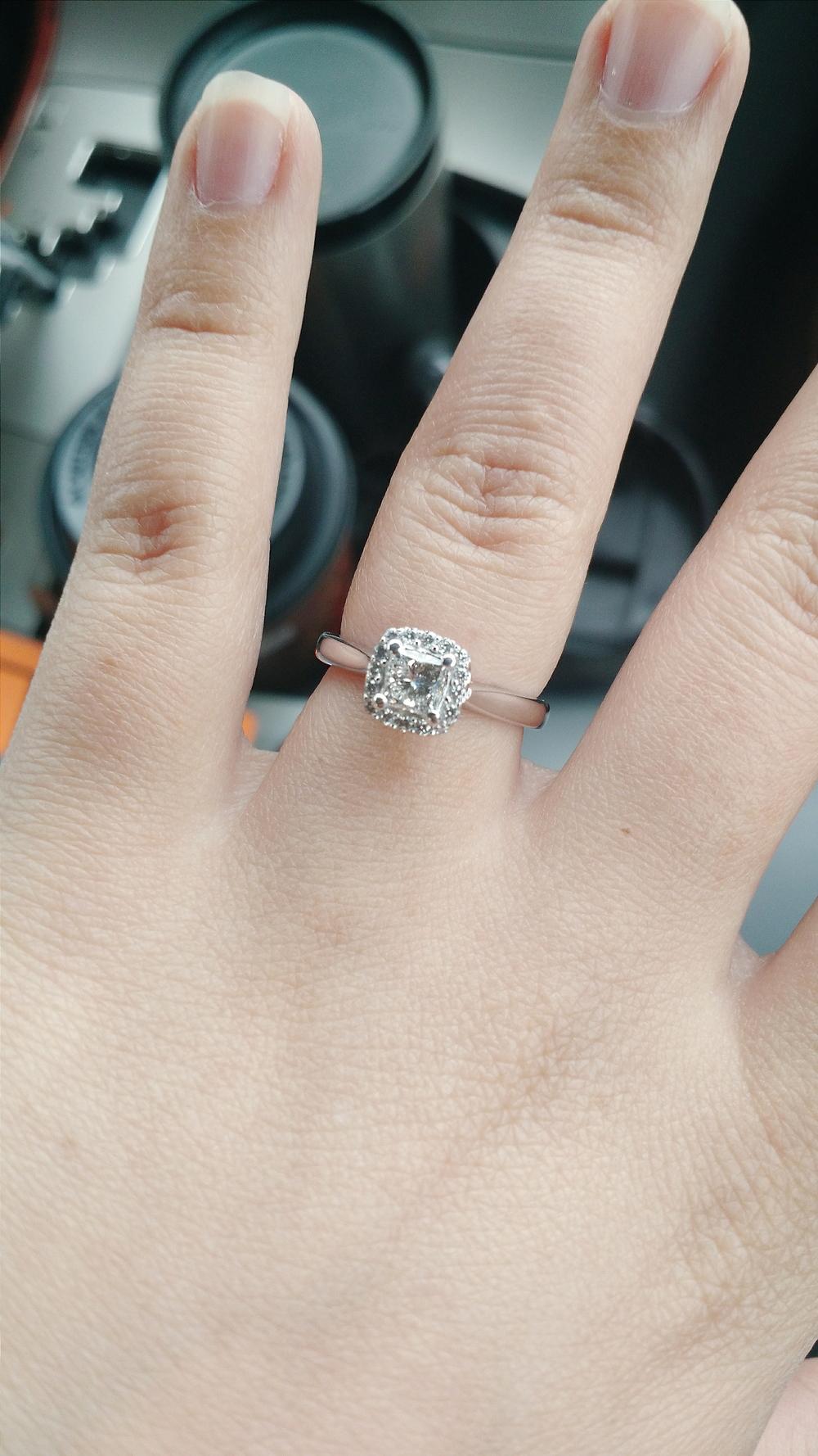 my ring got dipped - so shiny!