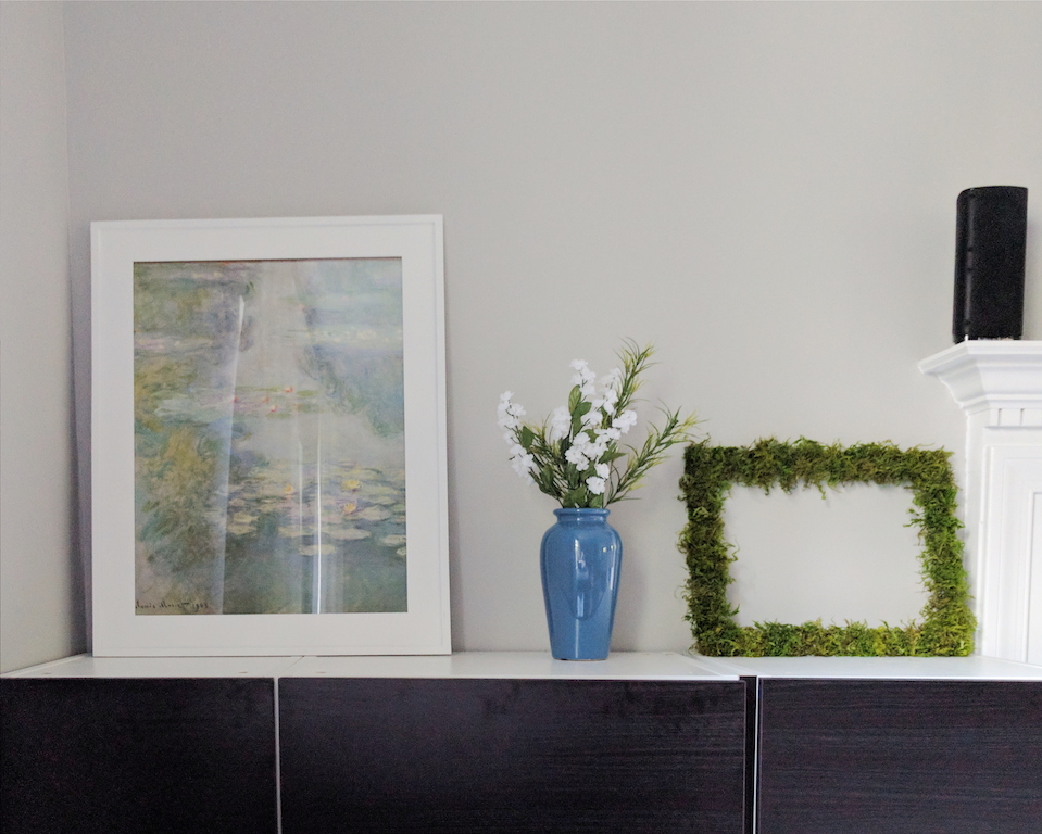 DIY moss frame