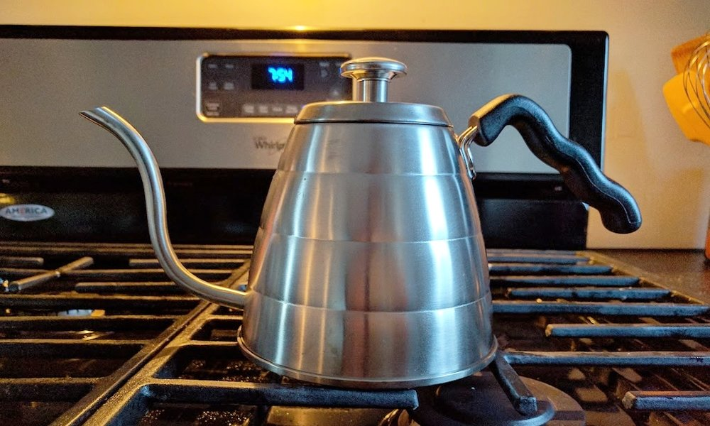 We used a Christmas giftcard to Amazon to finally get a gooseneck kettle for coffee making methods! -