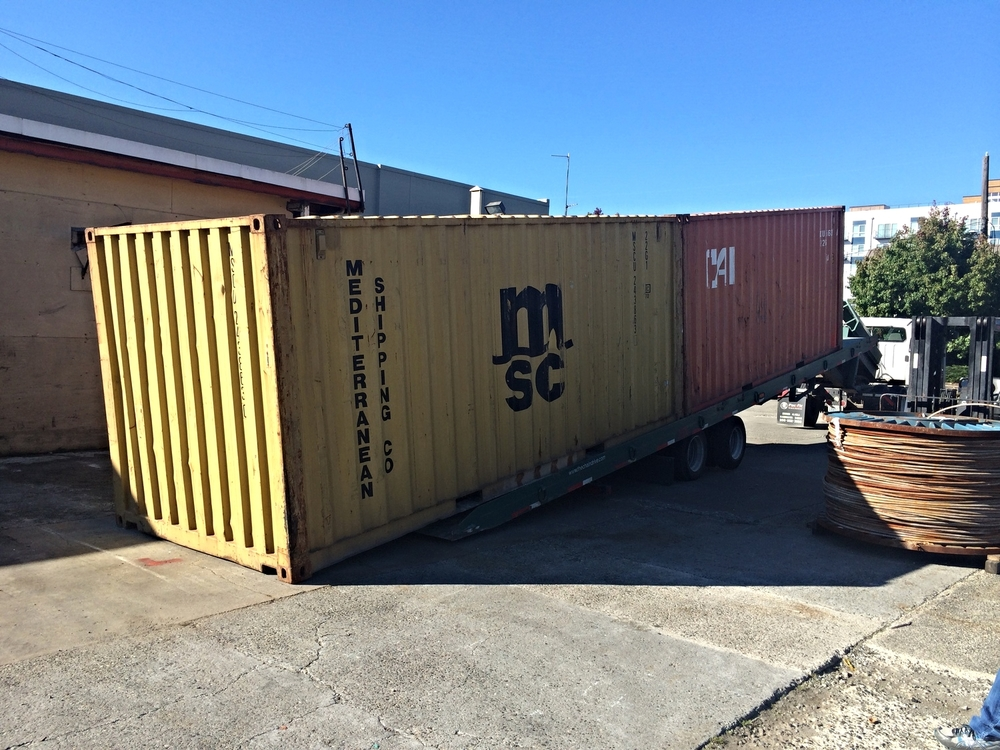 Shipping Container Storage Yard Part - 47: My Solution Was To Build A 320 Sqft Wood Shop From Two Shipping Containers  And Keep It In An Equipment Storage Yard Where Rent Is Cheap.