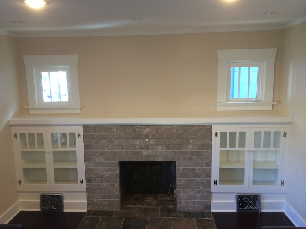 Craftsman Style Built Ins And Mantel