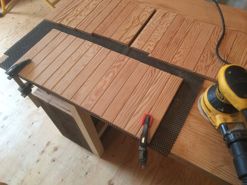 Reclaimed Douglas Fir Hall Tree Brickel Creek Fine Woodwork