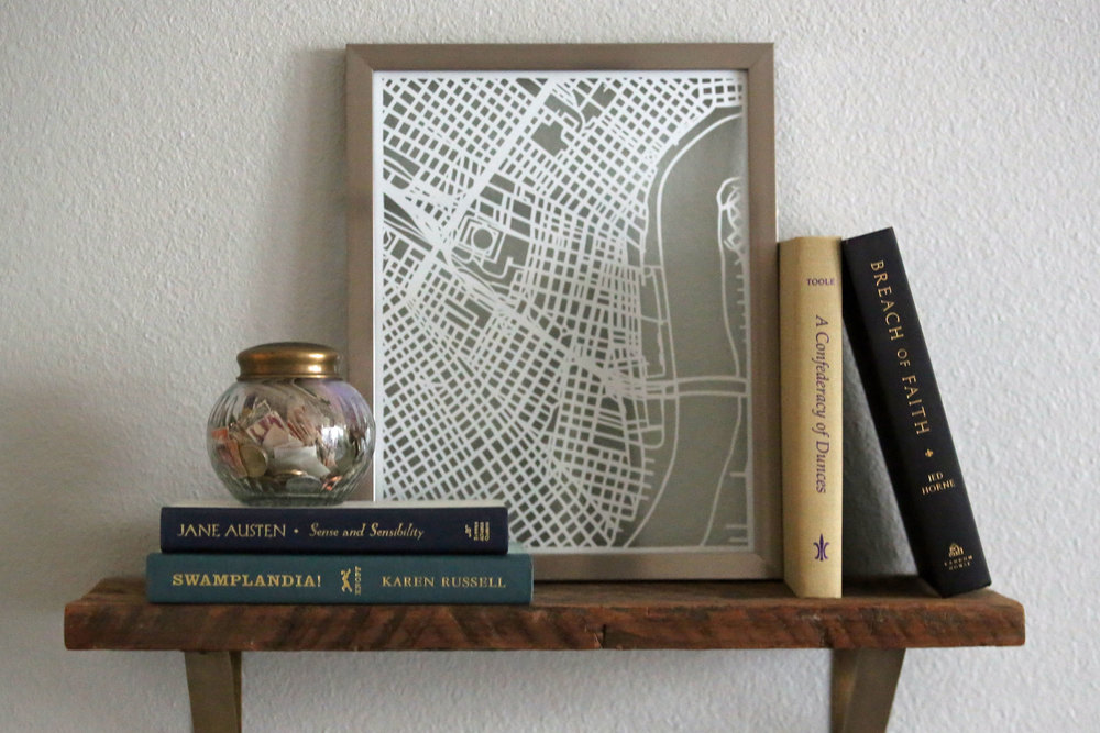HISTORIC NEW ORLEANS MAP | Papercut Artwork