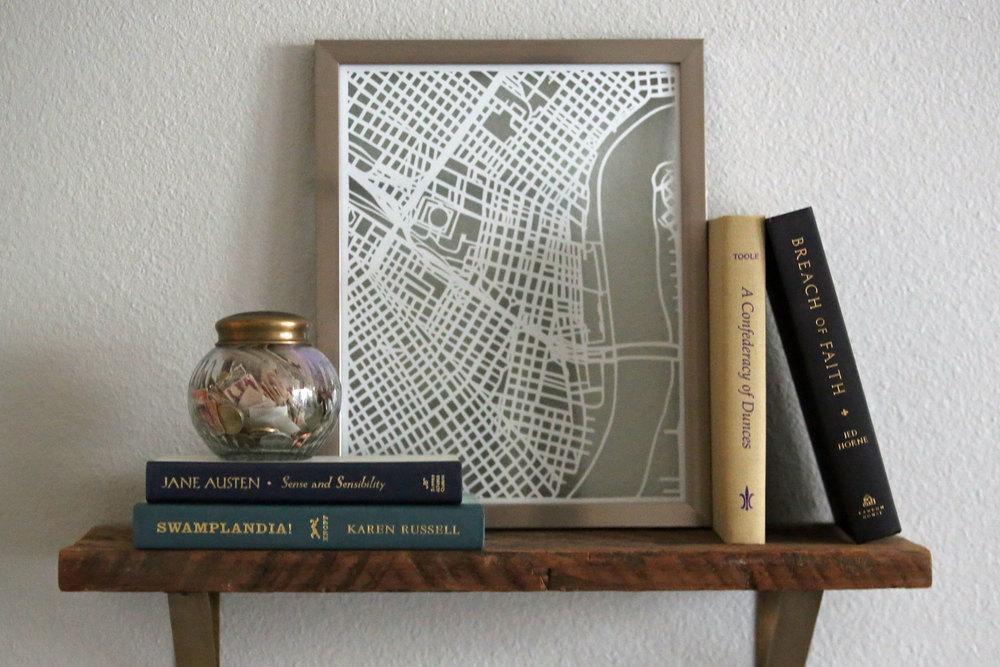 Copy of HISTORIC NEW ORLEANS MAP   Papercut Artwork