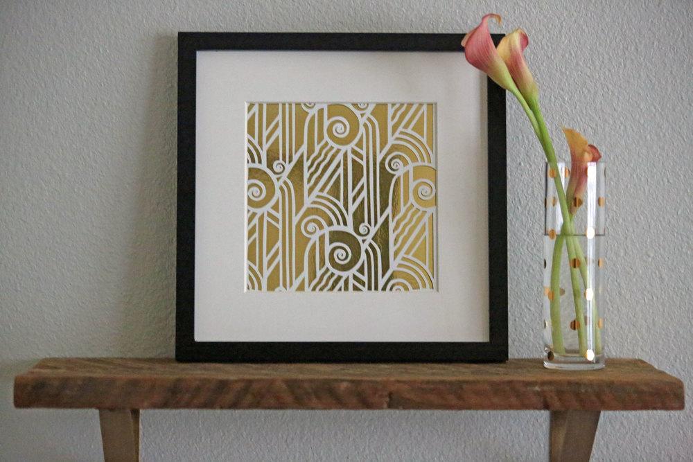 Copy of DECO SWIRL   Paper Cut Art