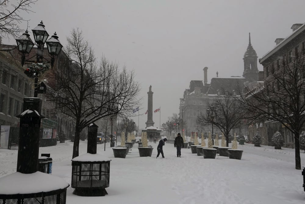 Snowy Montreal Street