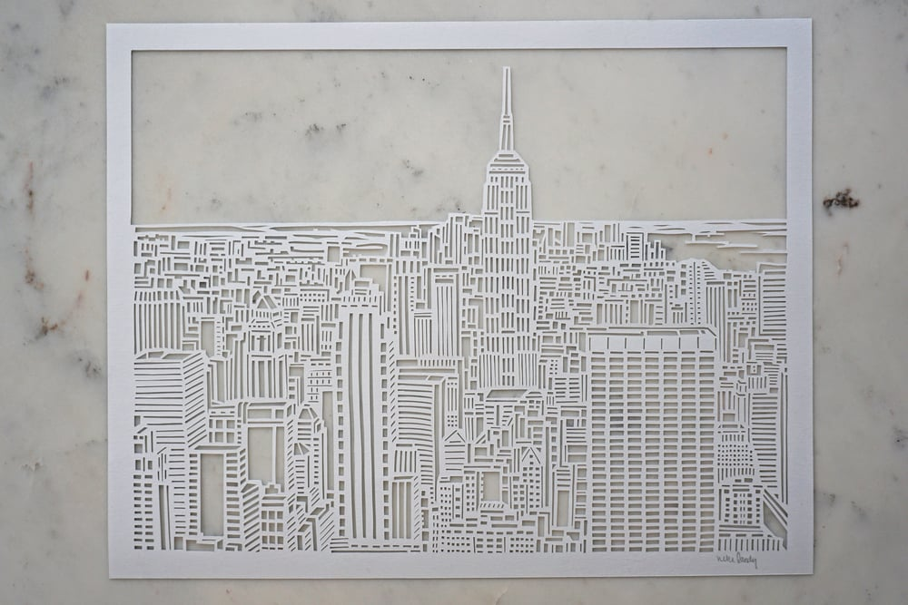 Copy of NEW YORK CITY SKYLINE   Paper Cut Art