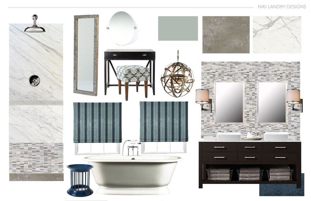 Bathroom Design Board interior design services — louisiana interior design | niki landry