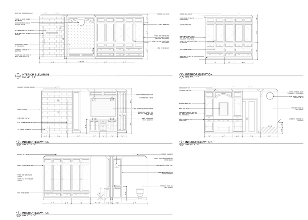 Bathroom Elevations