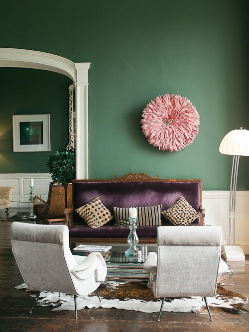 Purple and Green Sitting Room