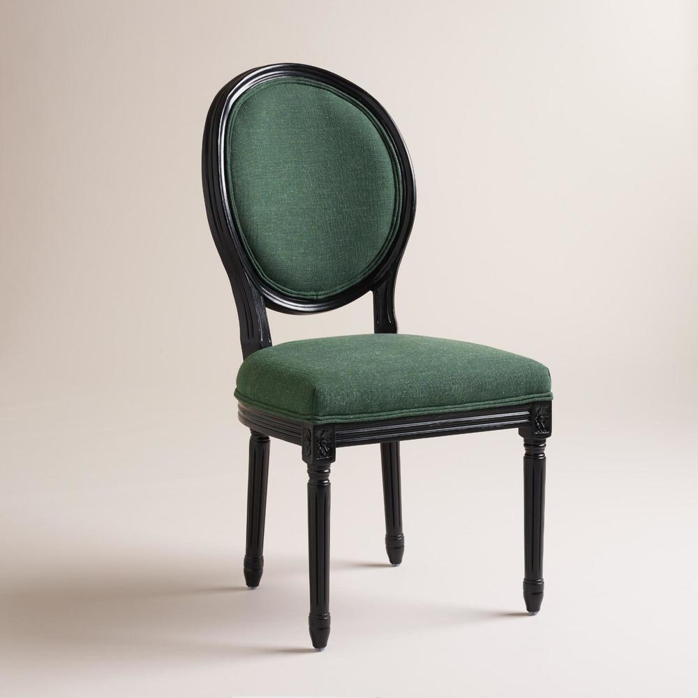 Round Back Green Chair